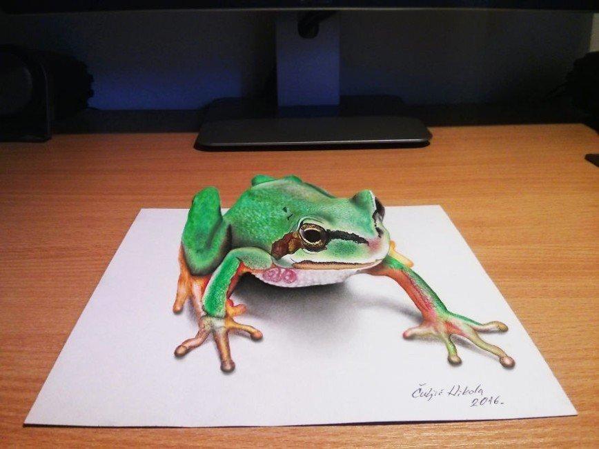 3D-рисунки от сербского художника