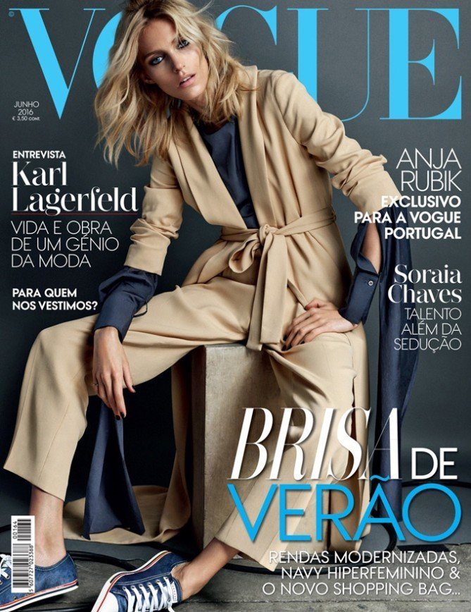 Аня Рубик на обложке Vogue Portugal
