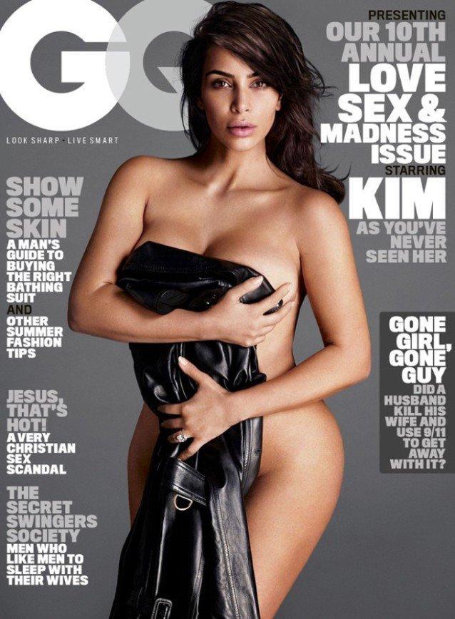 Ким Кардашьян на обложке GQ Magazine