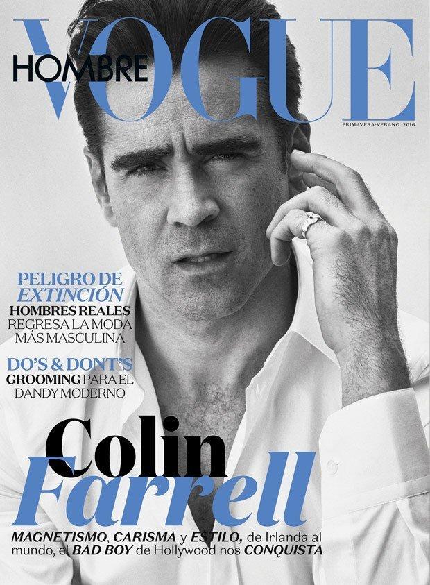 Колин Фаррелл на обложке Vogue Hombre