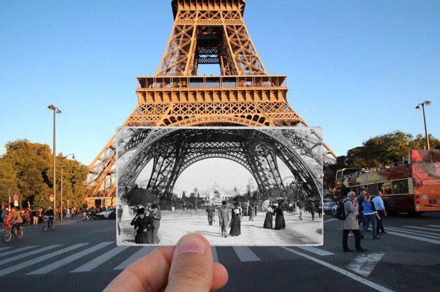 Париж: окна в прошлое: [i][b]Эйфелева башня, 1900[/i][/b]