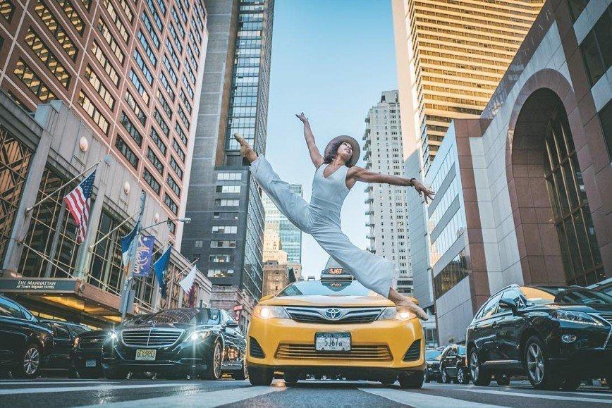 Балет на улицах Нью-Йорка