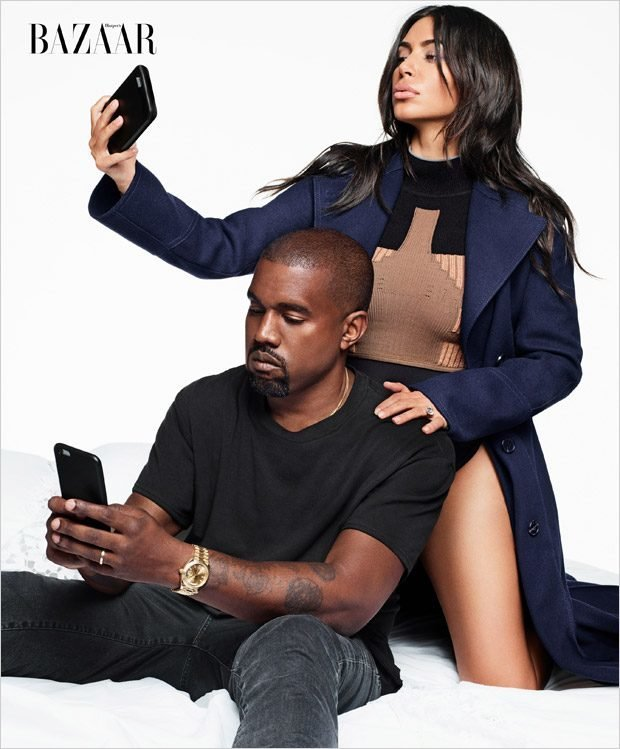 Ким Кардашьян и Канье Уэст на обложке Harper's Bazaar