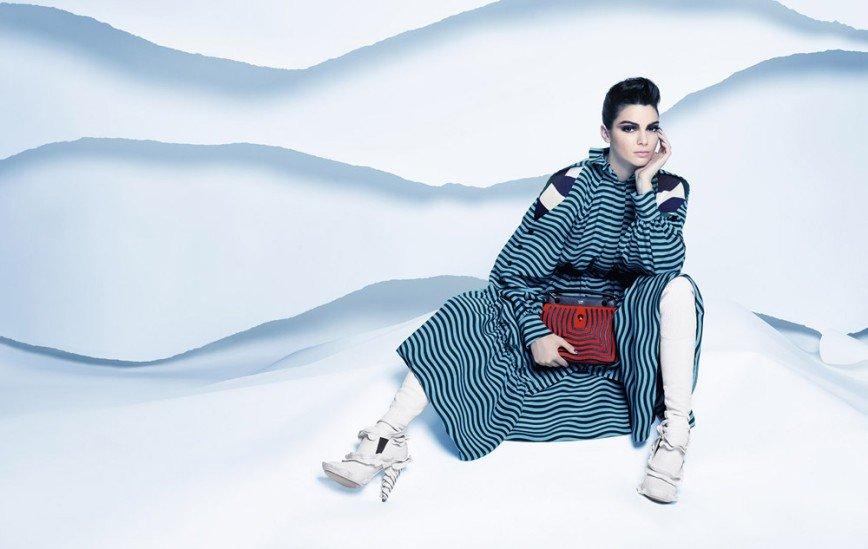 Кендалл Дженнер в рекламной кампании Fendi, осень-зима 2016/17
