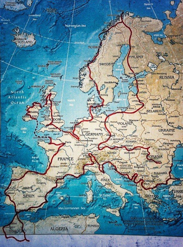 Путешествие по Европе на мотоцикле: [b][i]Карта путешествия. Начало - Бухарест, Румыния[/b][/i]