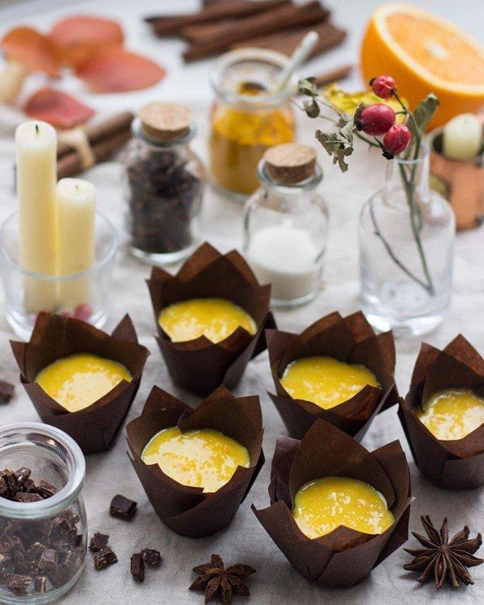 Тыквенные маффины с апельсиновой цедрой и шоколадом