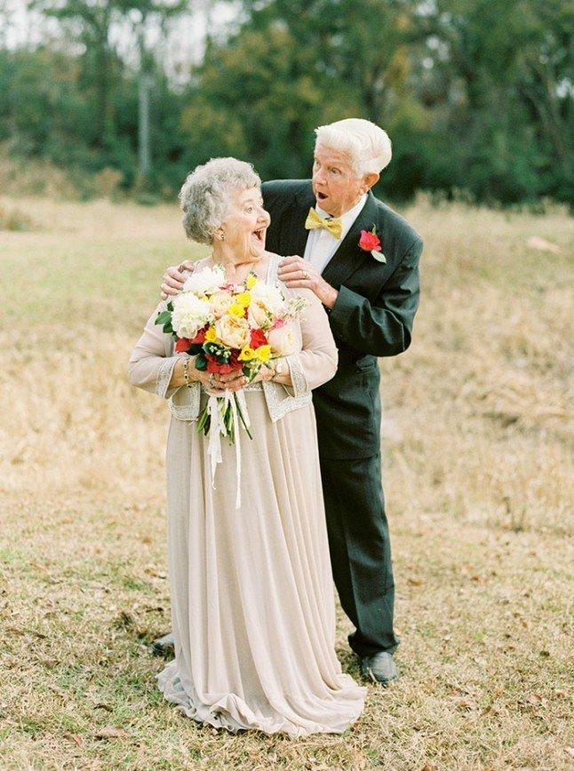 Трогательная фотосессия к 63 годовщине свадьбы
