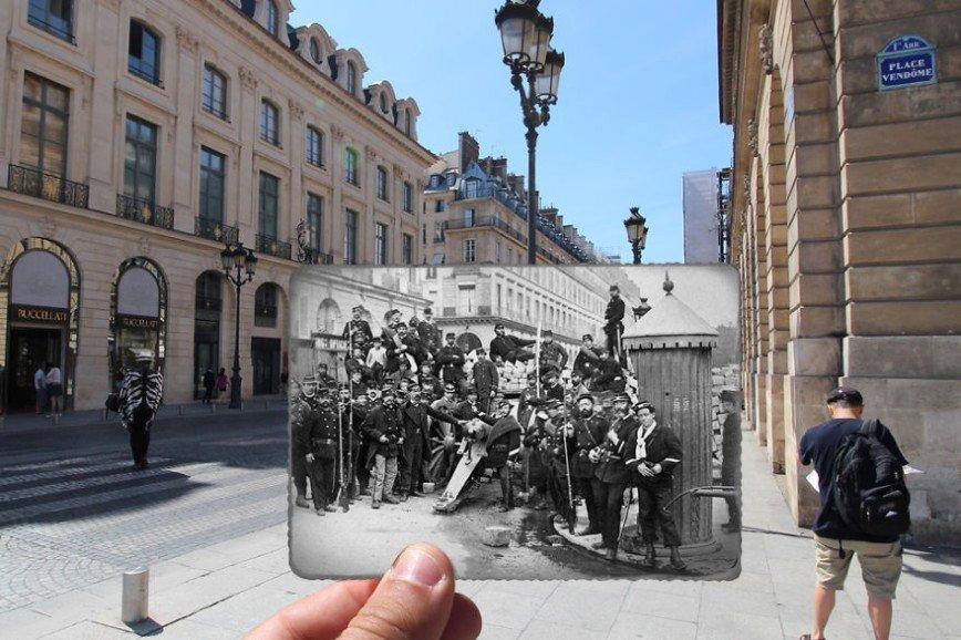 Париж: окна в прошлое: [b][i]Вандомская площадь, 1871[/b][/i]