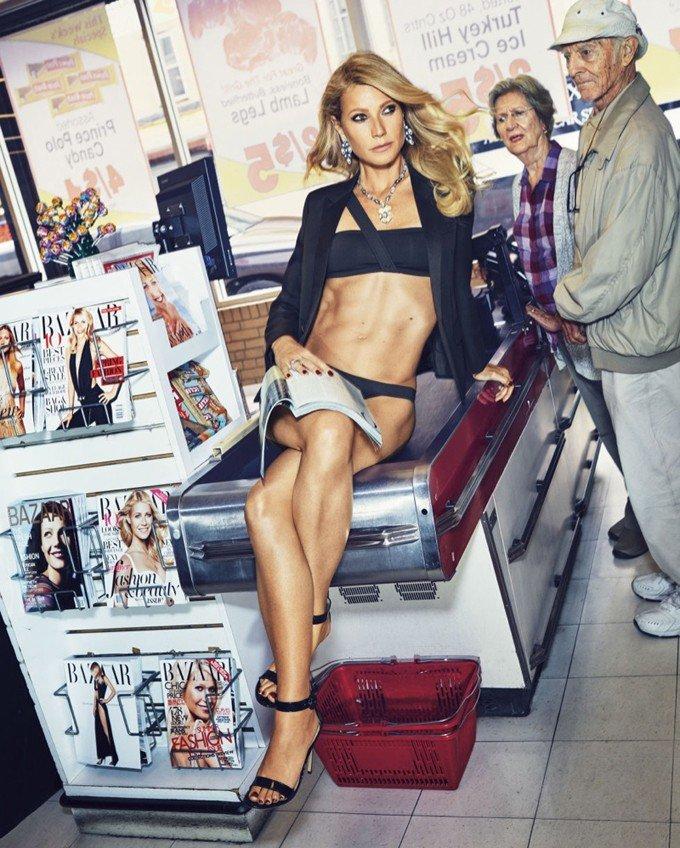 Гвинет Пэлтроу на обложке журнала Harper's Bazaar