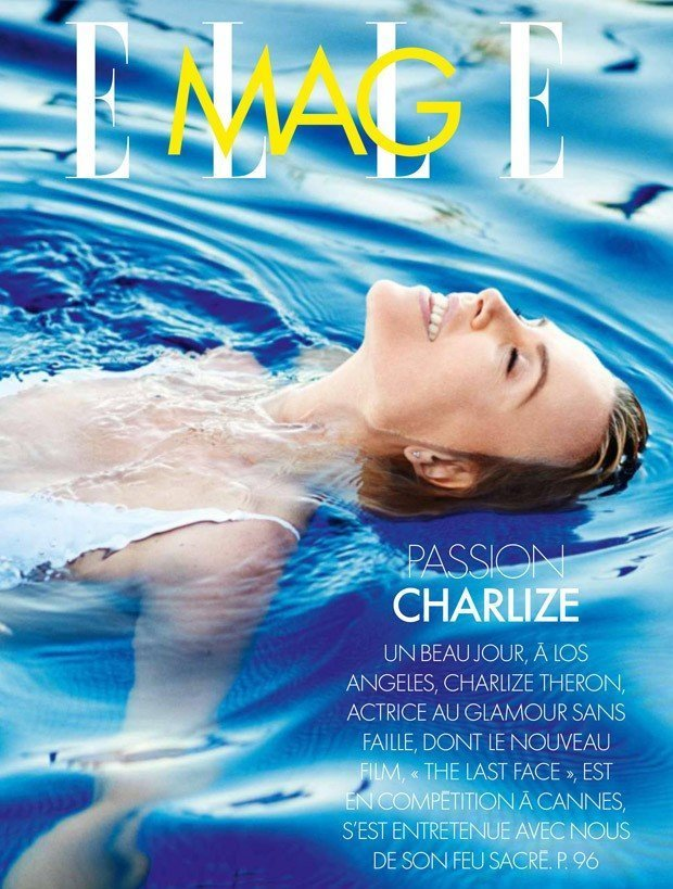 Шарлиз Терон украсила обложку Elle France
