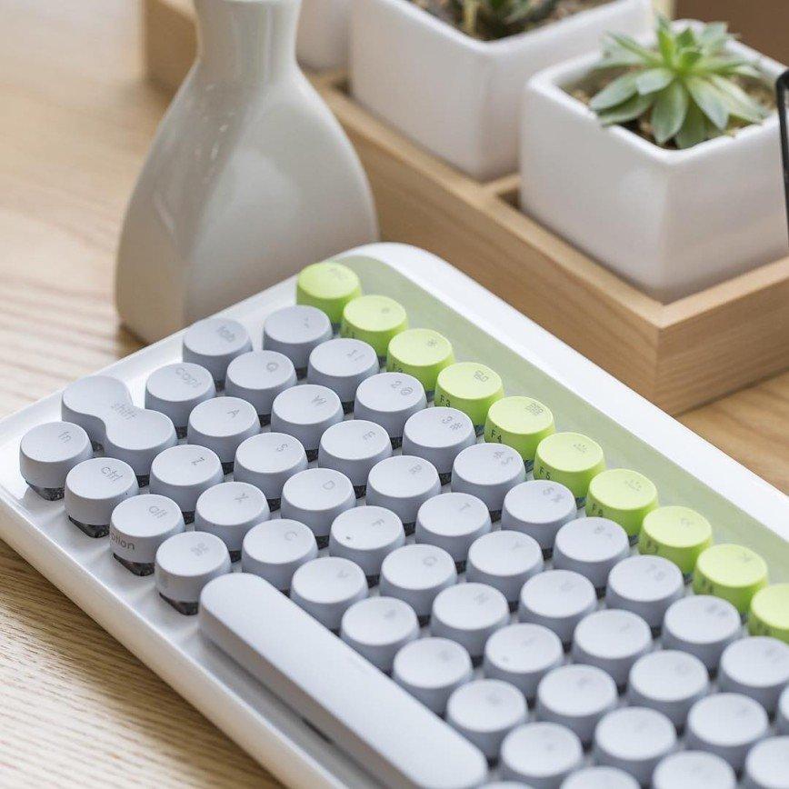 Клавиатура в стиле старых пишущих машинок