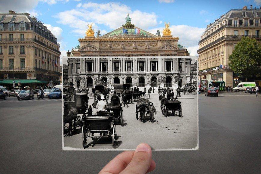 Париж: окна в прошлое: [i][b]Площадь Оперы, 1900[/i][/b]