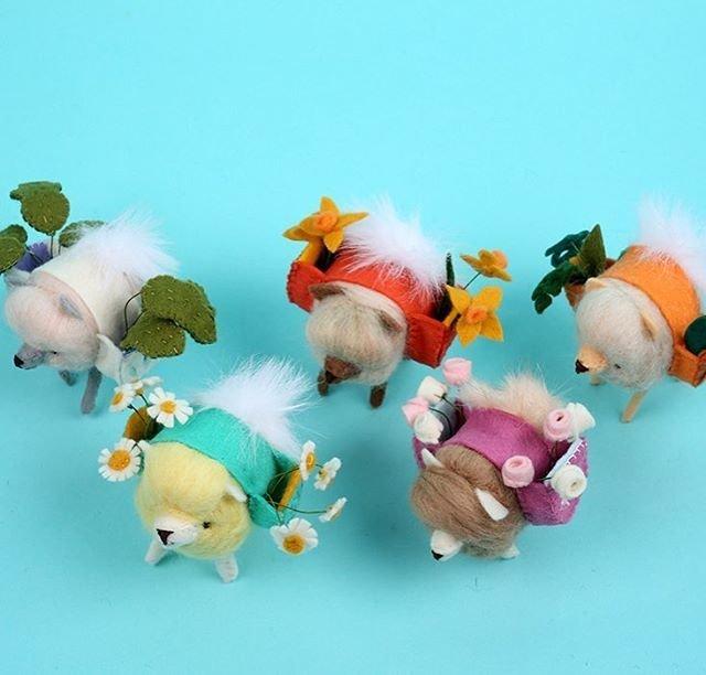 Забавные игрушки из войлока: