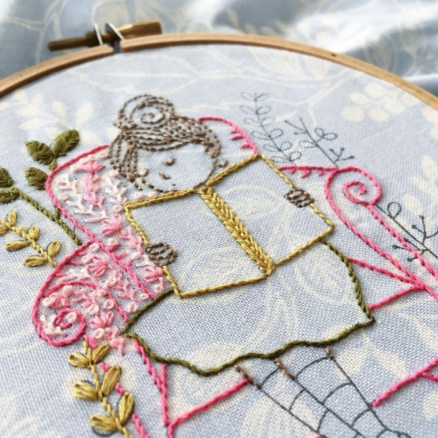 Нежные цветочные вышивки израильского дизайнера