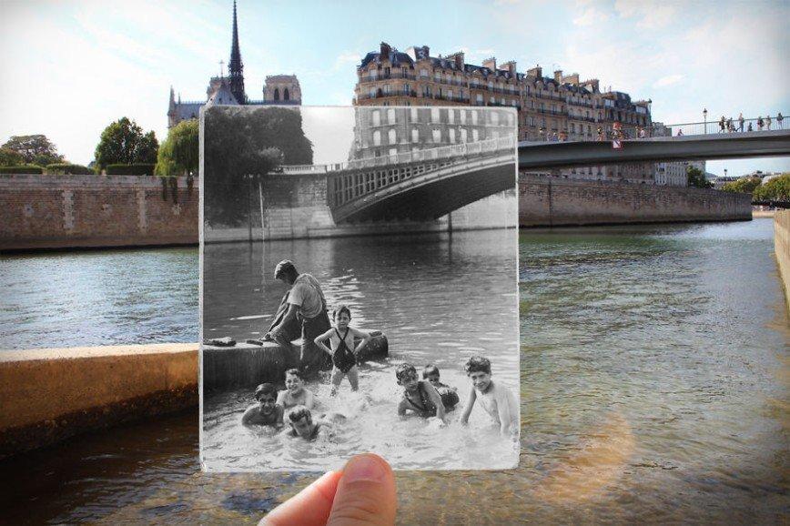 Париж: окна в прошлое: [b][i]Сена, Собор Парижской Богоматери, 1930[/i][/b]