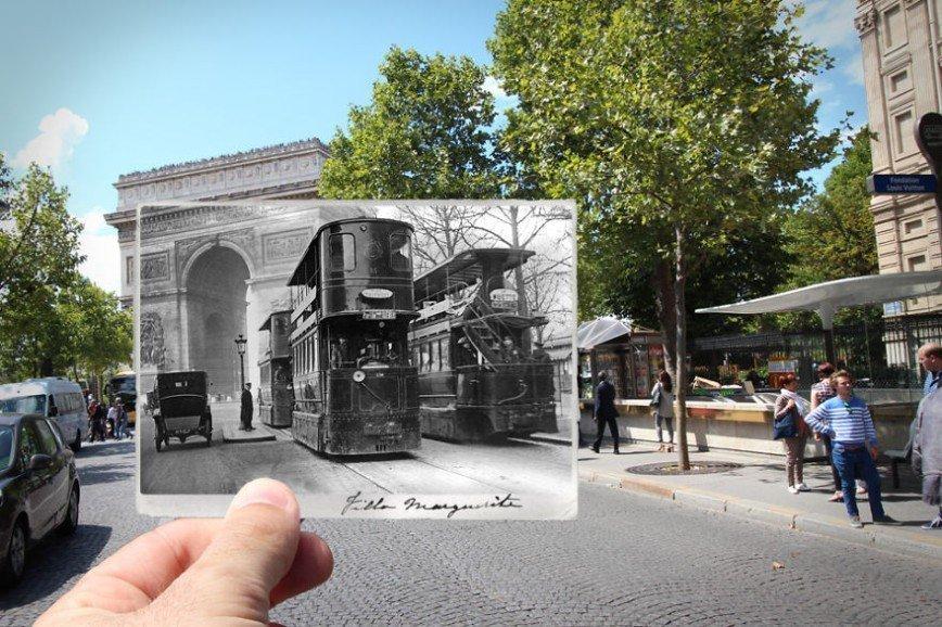 Париж: окна в прошлое: [i][b]Триумфальная арка, 1909[/b][/i]