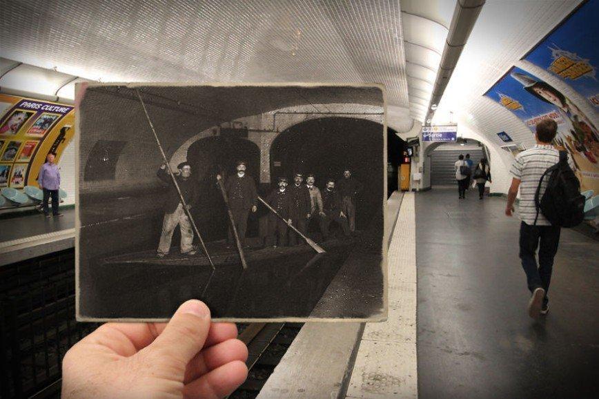 """Париж: окна в прошлое: [b][i]Станция метро """"Одеон"""", 1910[/b][/i]"""