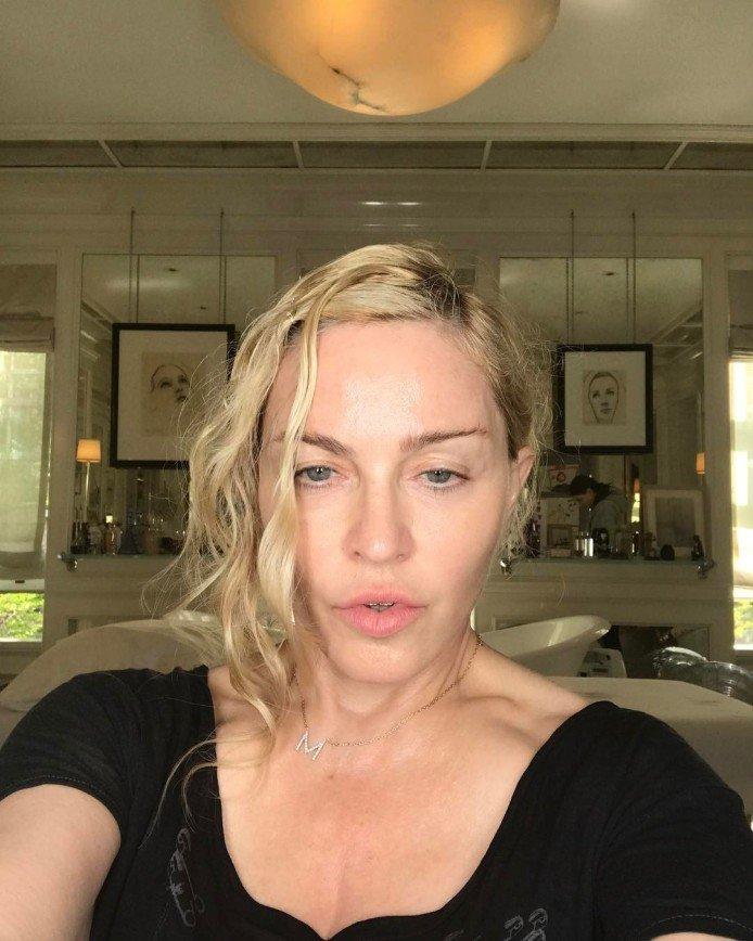 На сколько лет выглядит Мадонна без макияжа?