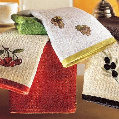 Кухонные полотенца и салфетки. Лицевые полотенца (примерно 40х70см)