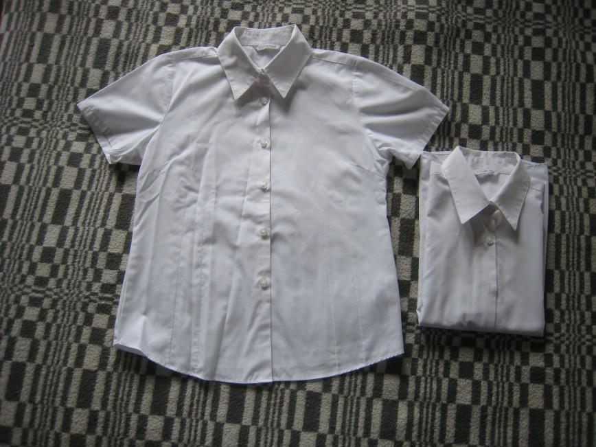 Рубашки M&S 11-12лет/152см для девочек! 65% полиэстер, 35% хлопок активно б/у 100р. за одну