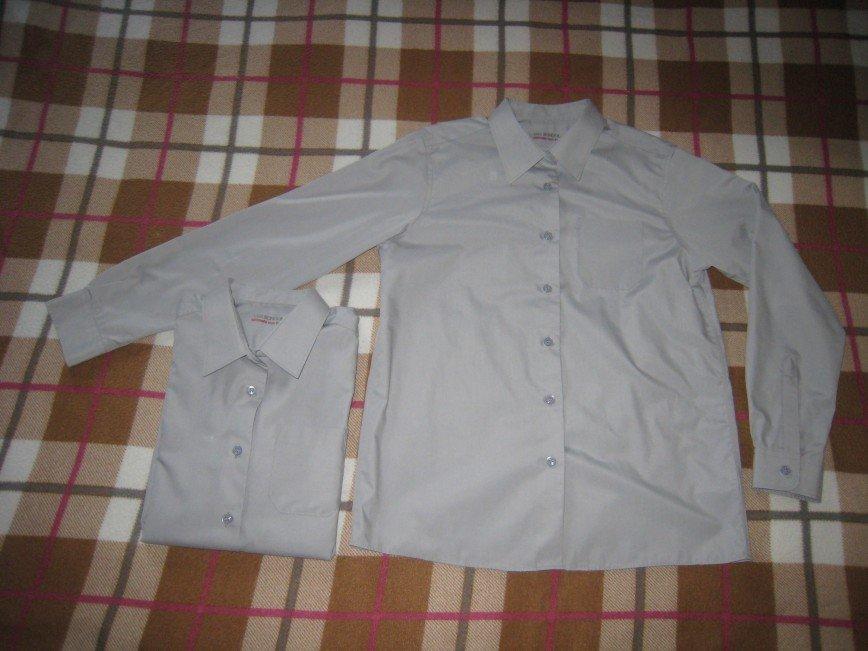M&S 12-13лет/158см. для девочек! цвет серый ultimate non iron (без глажки) 250р. за одну носили мало. в наличии 3шт.