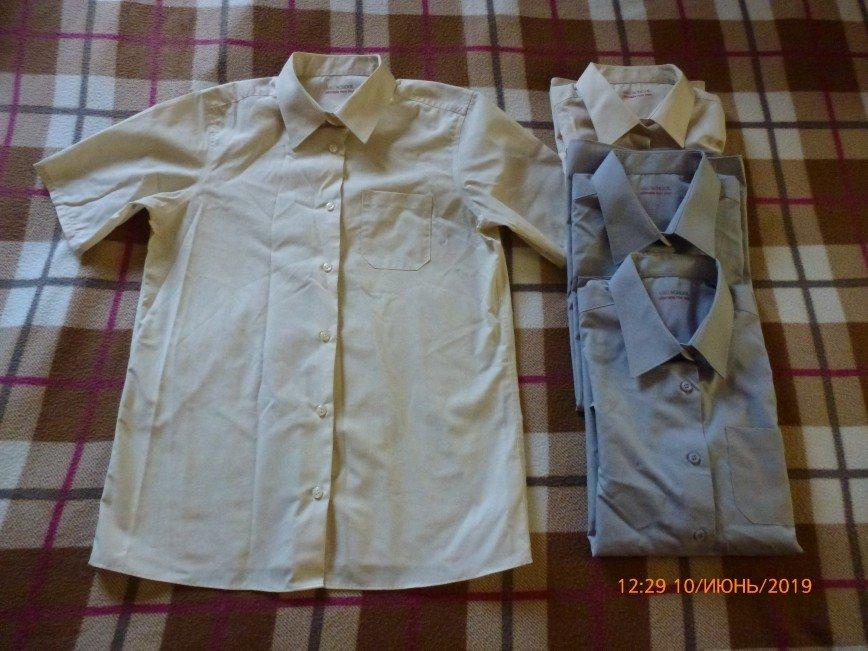 M&S 13-14лет/164см. для девочек! 65% полиэстер, 35% хлопок ultimate non iron (без глажки) носились очень мало 300р за одну