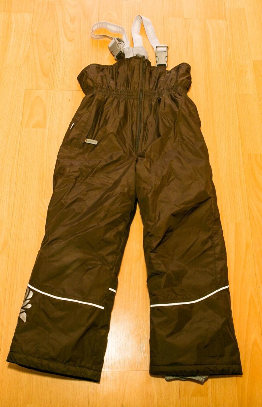 LENNE зима, самый теплый полукомбез, на коленках легкие потертости, видно на фото. В глаза не бросаются. 1000 руб. 128-134