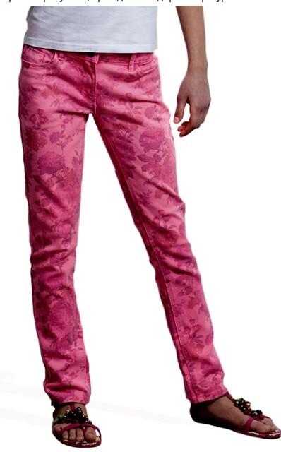 Пристрой джинсы с принтом, Литл Марс (Германия), размер 152. Цена 1200