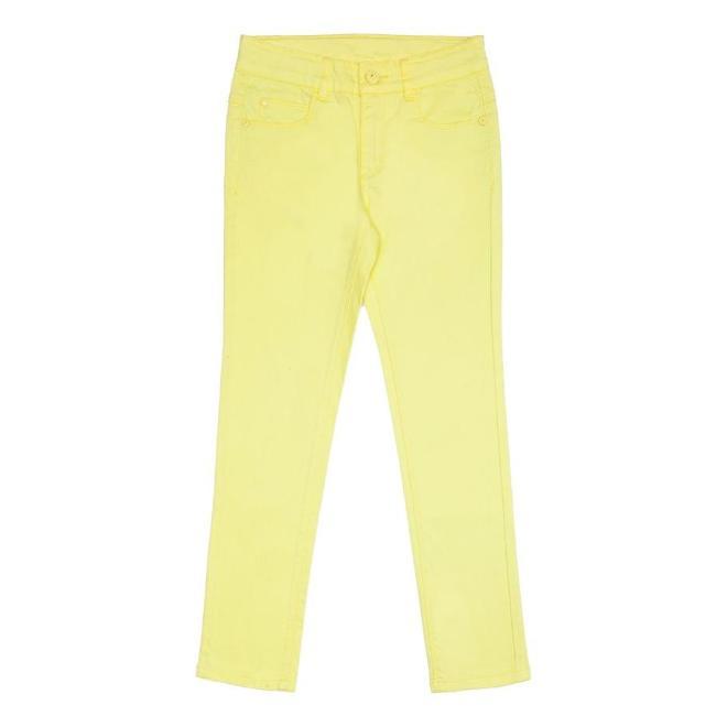 Желтые летние брюки фирмы Акула. На худенькую девочку. Размер 146. Цена 1000