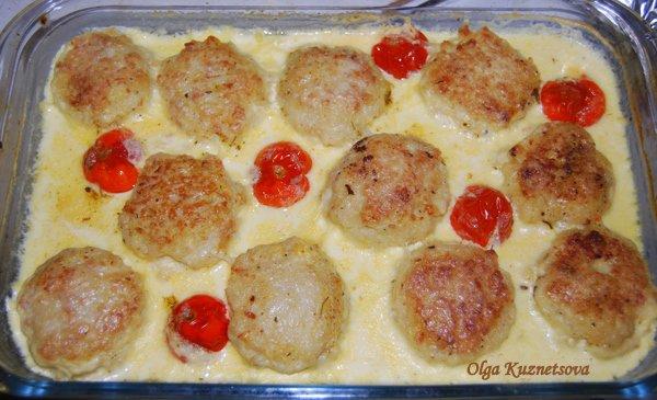 тефтели в духовке с соусом пошаговый рецепт с фото