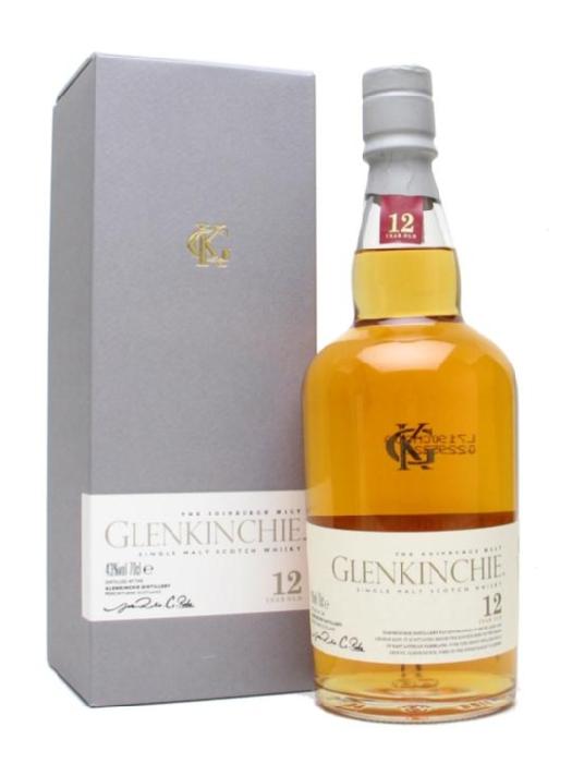 Для ценителей виски: Гленкинчи 12 лет (Glenkinchie 12 Years Old) – односолодовое  шотланское виски. Отличается легким, очень мягким, маслянистым вкусом. Объем 0.75, крепость - 43% Упаковка - подарочная Цена  - 1850 руб. (Привезено из Великобритании - цена ниже DutyFree!)