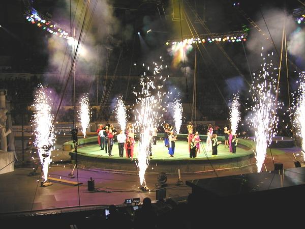 шоу 2007-2008 года А3, 5 ряд места 39-42 , вот так вот было видно, даже чуть по ближе по моему. Для билетов по 390 руб, просто идеально:)))