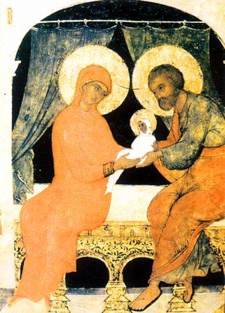 [b]Молитва к святым праведным Богоотцам Иоакиму и Анне[/b] [br] О, приснославнии Христовы праведницы, святии Богоотцы Иоакиме и Анно, предстоящии Небесному Престолу Великаго Царя и велие дерзновение к Нему имущии, яко от Преблагословенныя Дщери вашея, Пречитыя Богородицы и Приснодевы Марии, воплотитися изволившему! К вам, яко многомощным предстателем и усердным о нас молитвенником, прибегаем мы, грешнии и недостойнии. Молите благость Его, яко да отвратит от нас гнев Свой, по делом нашим праведно на ны движимый, и да безчисленныя прегрешения наша презрев, обратит нас на путь покаяния и на стези заповедей Своих да утвердит нас. Таже молитвами вашими в мире живот наш сохраните и во всех благих благое поспешение испросите, вся яже к животу и благочестию потребная нам от Бога дарующе, от всяких напастей и бед и напрасныя смерти предстательством вашим нас избавляюще, и от всяких враг видимых и невидимых защищающе, яко да тихое и безмолвное житие поживем во всяком благочестии и чистоте, и тако в мире временное сие житие прешедше в вечный достигнем покой, идеже вашим святым умолением да сподобимся Небеснаго Царствия Христа Бога нашего, Емуже со Отцем и Пресвятым Духом подобает всякая слова, честь и поклонение во веки веков. Аминь.